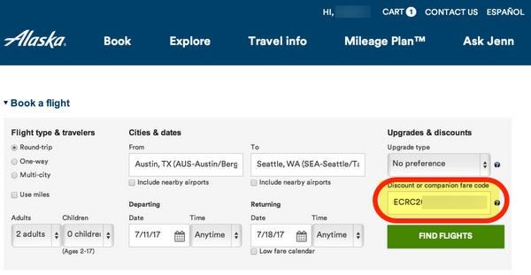 Big Upgrade To The Alaska Airlines Companion Certificate