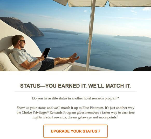 Choice Hotels Status Match 2017