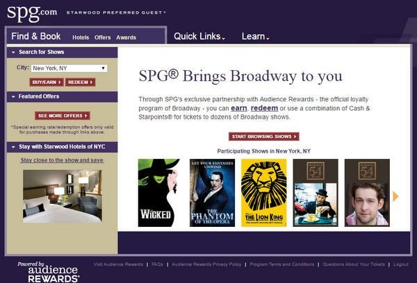 Earn Bonus Starwood Points For Broadway Show Tickets Redeem For Unforgettable Experiences