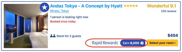 Earn Points Booking Hotel Stays