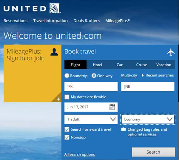 The Ultimate Guide to United Miles: Part 5 – Using The United Website To Book Awards