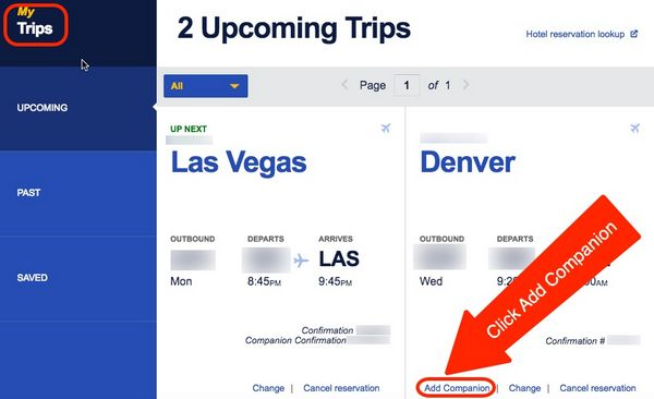 How To Change Your Southwest Companion