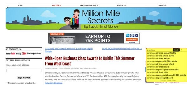 How To Use Million Mile Secrets March 2017