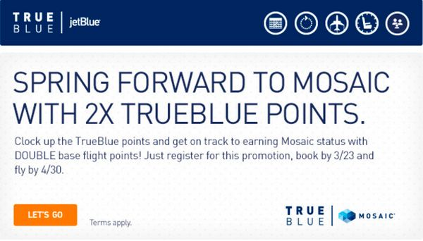 JetBlue Double Points Promotion