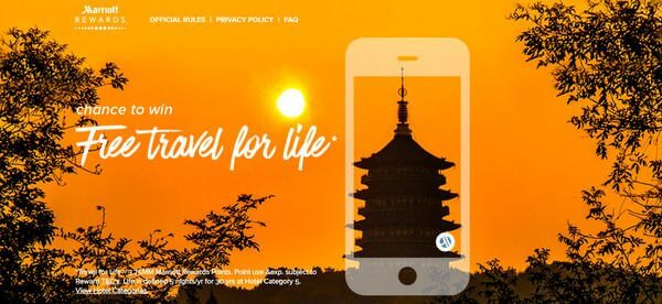 Marriott Free Travel For Life Sweepstakes