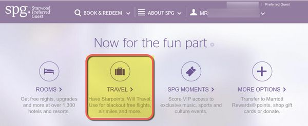 Starwood Points For Domestic Flights