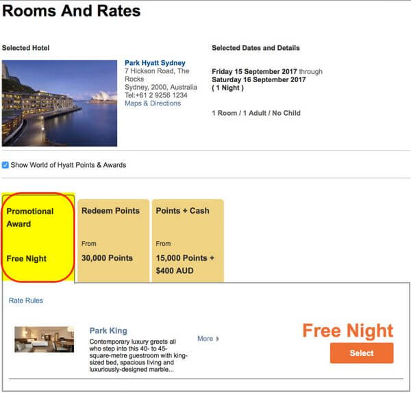 Chase Hyatt 2 Free Nights