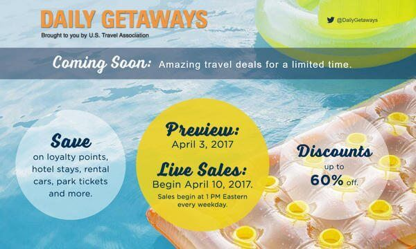 Daily Getaways 2017 Preview!  Save on Rental Cars, Hotels, Amusement Parks, & More