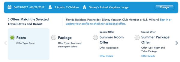 Disney World Hotel Discounts 2017