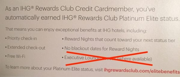 Do IHG Cardholders Get Executive Lounge Access