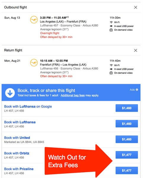 Drawbacks Of Booking Airfare With An Online Travel Agency