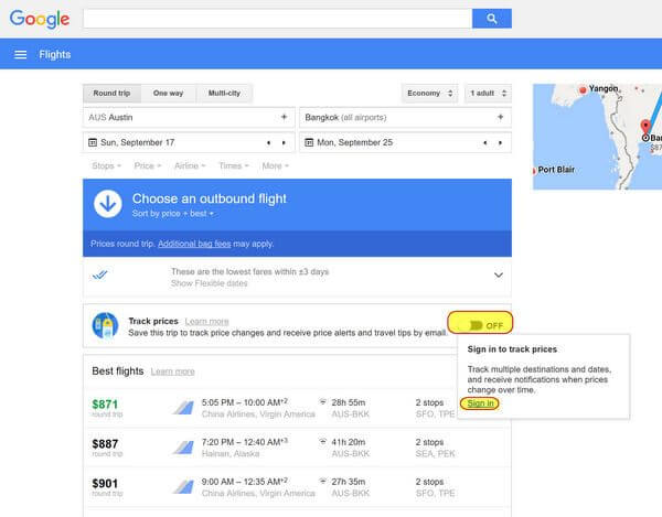 How To Set Google Flight Alerts