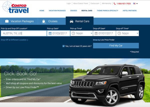 Costco Travel Rental Cars