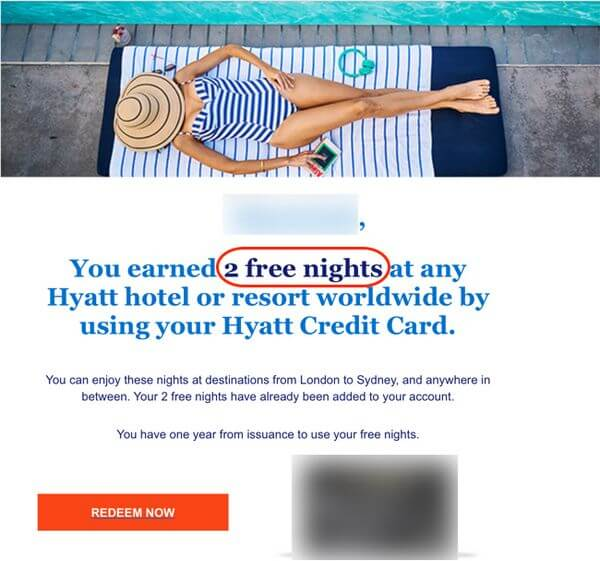 Hyatt Free Night Certificates