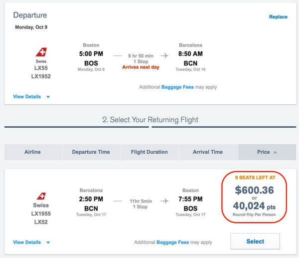 Book Multiple Flights With Flexible Points