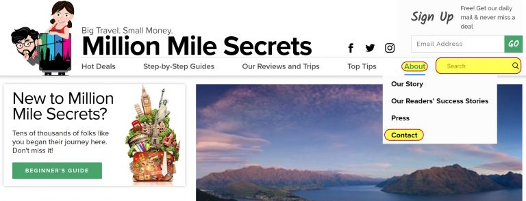 Know Your Way Around The New Million Mile Secrets Site
