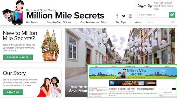 Welcome To The New Design Of Million Mile Secrets