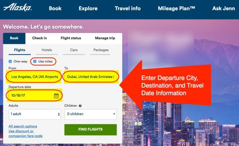 how to use alaska airlines miles on american
