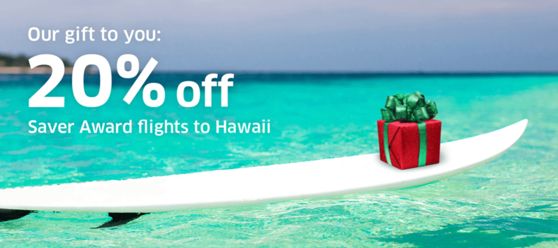 Award Sale to Hawaii:  Book a Winter Getaway and Save 9,000 Miles per Ticket!