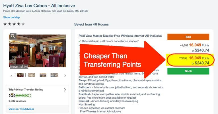 Booking Through Chase Travel Portal