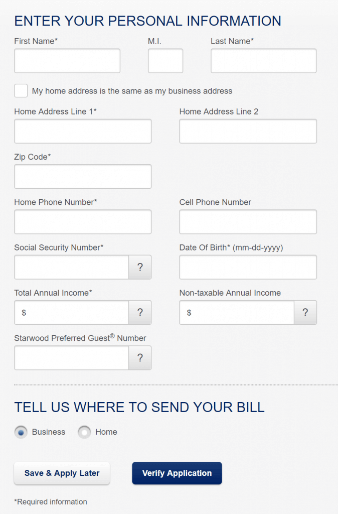 AMEX Business Card Application