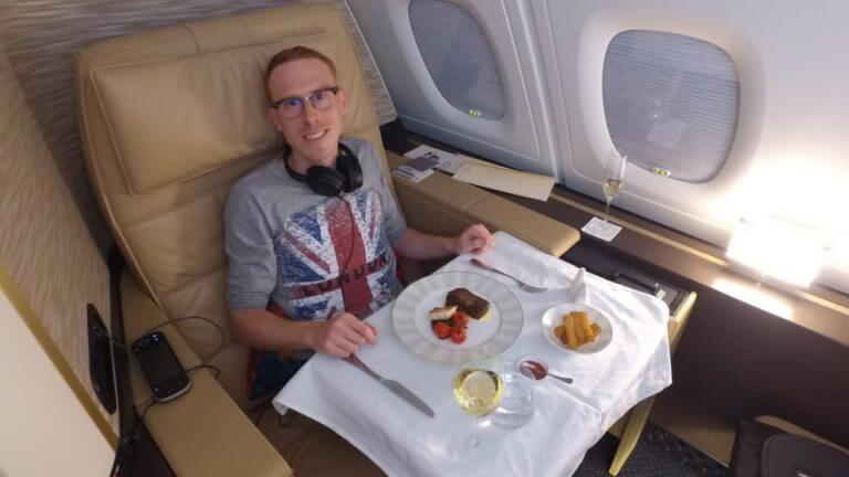 Cross It Off The Bucket List Reader Cedric Showered In Style At 33000 Feet
