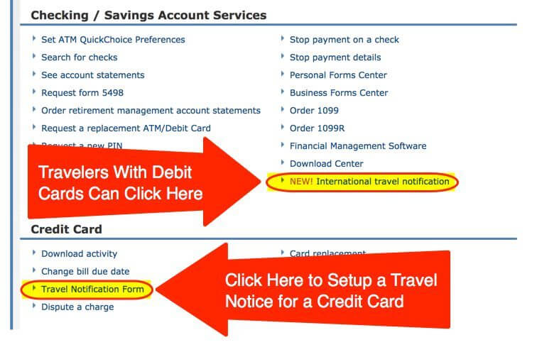 How To Set A Travel Alert On Chase Credit Cards