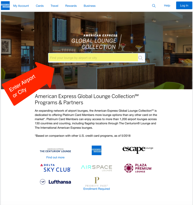 How To Find Amex Platinum Airport Lounges Million Mile Secrets