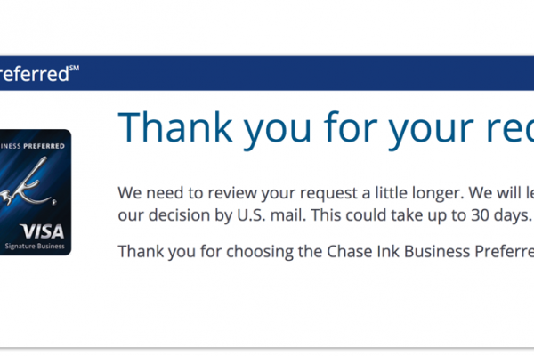 Hurry Up and Wait:  My Experience Applying for the Chase Ink Business Preferred