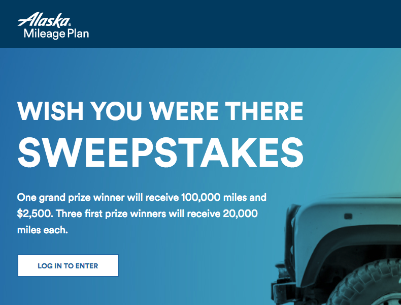 Win 100,000 Alaska Airlines Miles & $2,500 for Shopping Online This Week