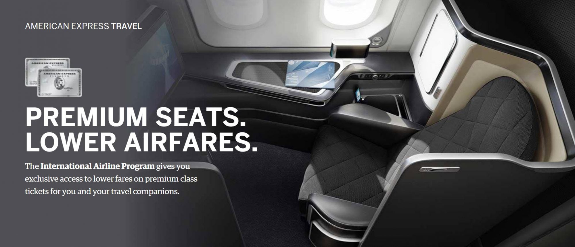 Easier Than Ever to Receive Discounts on First, Business, and Premium Economy Seats Through American Express!