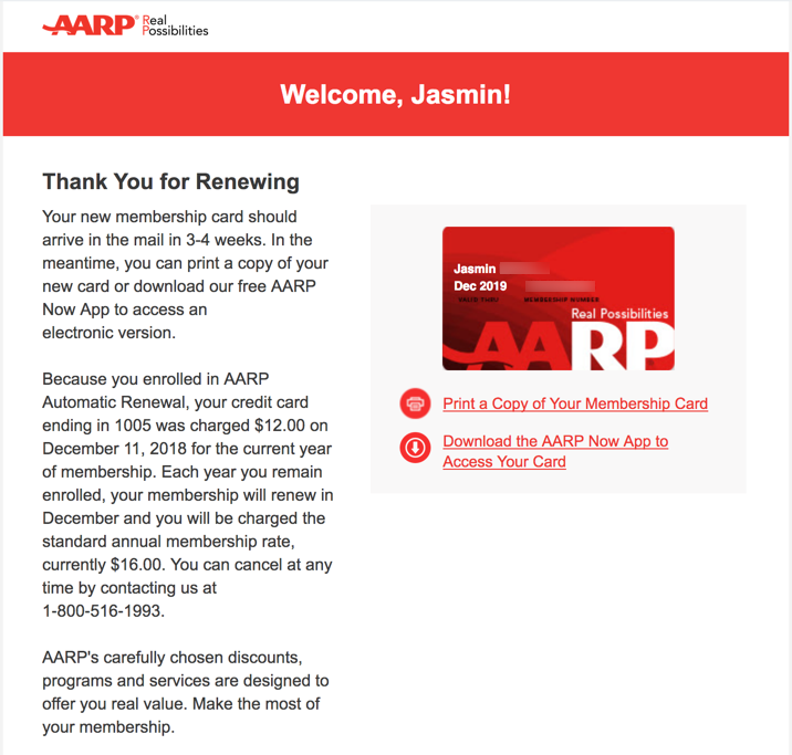 dc3aa2756e6 I Just Renewed My AARP Membership for Another Year With Automatic Renewal  for  12
