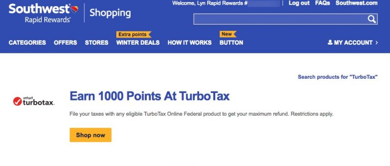 Southwest Airlines Rapid Rewards Buy Points January 2018 Price