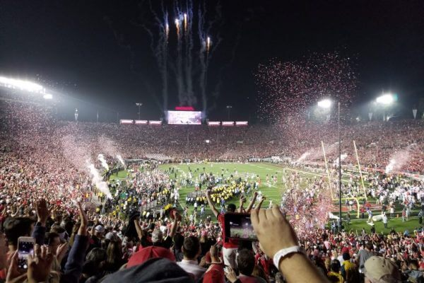 Thanks to His Southwest Companion Pass (and an Awesome Wife!) Reader Juan Saw Georgia Win the Rose Bowl!