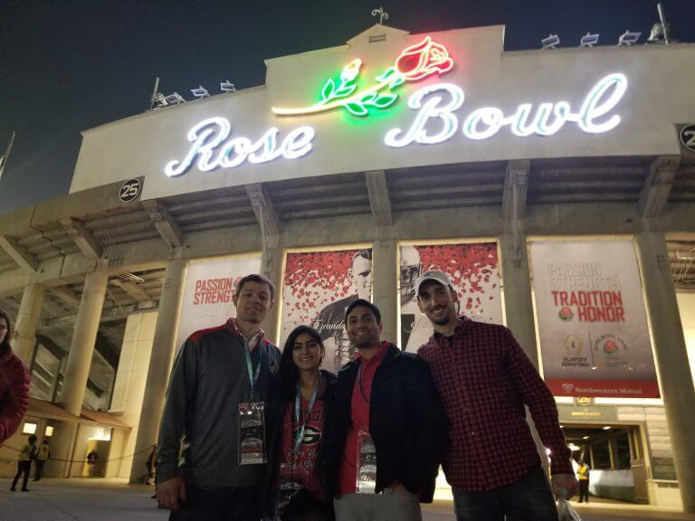 Thanks To His Southwest Companion Pass And An Awesome Wife Reader Juan Saw Georgia Win The Rose Bowl