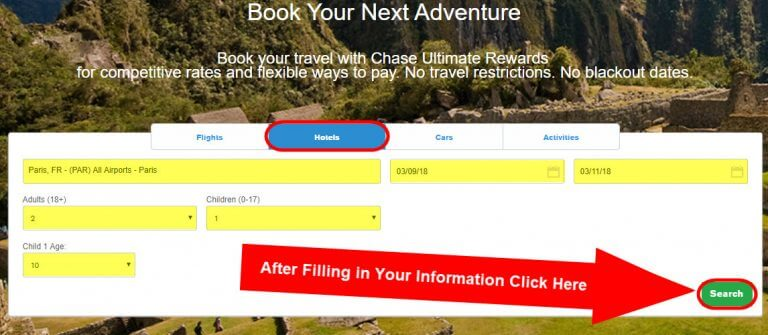 Step By Step Guide How To Book Travel With The Chase Travel Portal