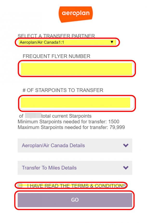 Ultimate Guide To Air Canada Aeroplan Miles Part 8 How To Transfer Starwood And American Express Points To Aeroplan