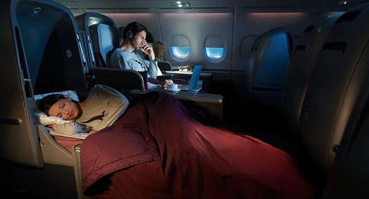Sleep on a bed in Business Class to Australia using American Airlines miles with the Citi Business American Airlines Credit Card