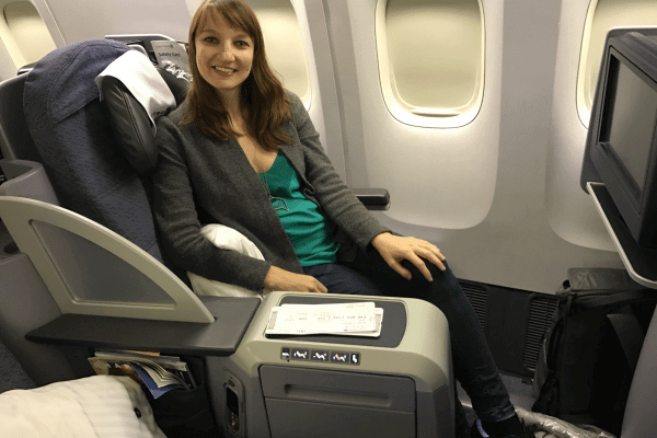 Emily's France Trip Report – Part 3:  United Airlines Business Class Flight Review – Newark to Paris