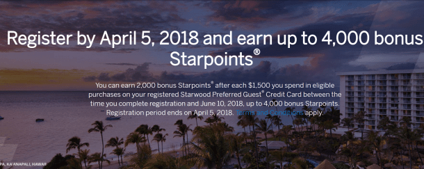 Targeted: Up to 15,000 Bonus Starwood Points for Tiered Spending