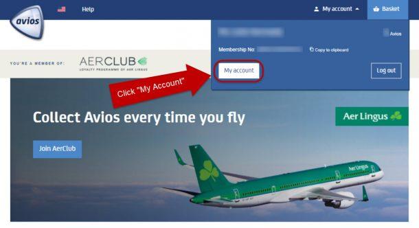 Transfer Avios Points