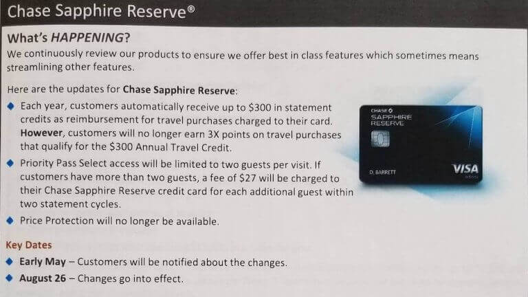 Chase Sapphire Reserve Changes And A Rumored New Card
