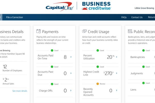 New Helpful Capital One Tool for Small Business Owners (Check Your Business Credit Reports for Free)