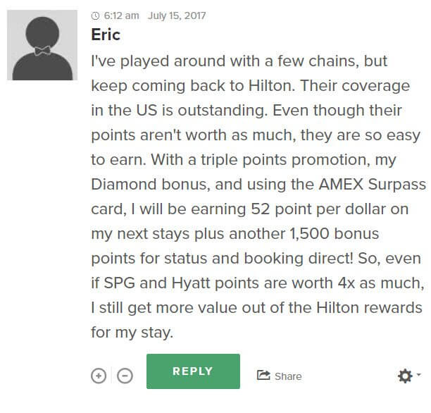but reader eric shows us that you can earn hilton points much faster than many other hotel chains - Hotel Chains With Kitchens