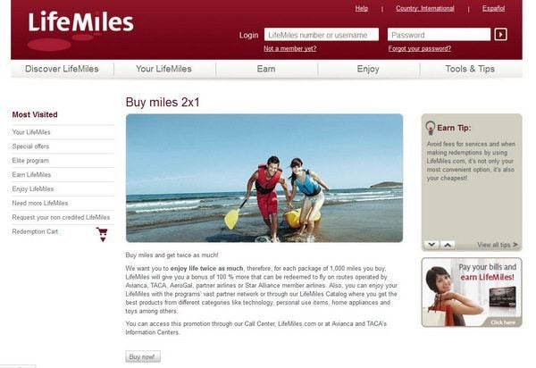 News You Can Use - Buy Avianca LifeMiles 100% Bonus