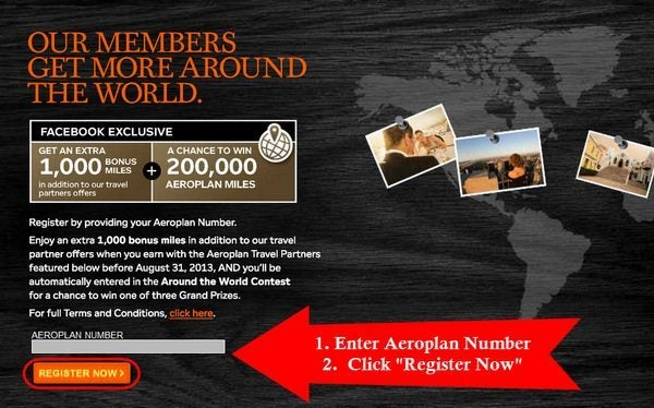 Bonus Aeroplan Miles for Partner Activity