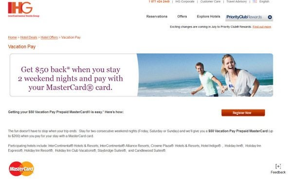 Priority Club MasterCard Statement Credit