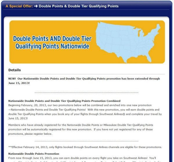 Southwest Double Points