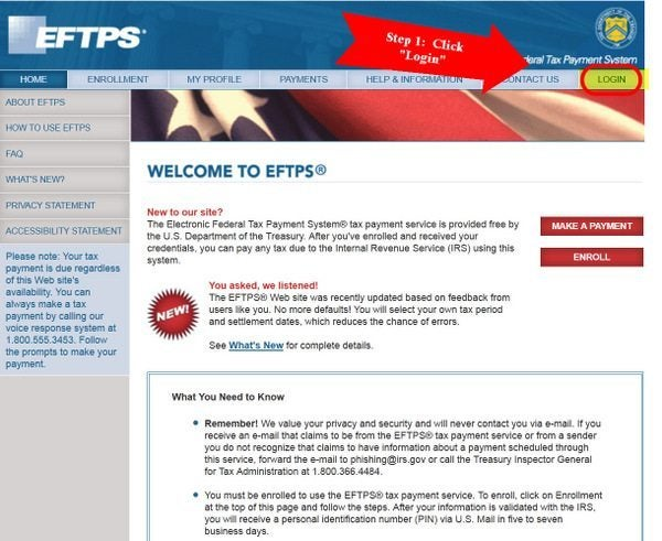 How to use EFTPS