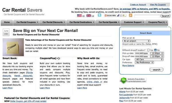 Cheap Book Rentals >> Car Rental Savers Million Mile Secrets